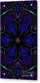 Kaleidoscope Feathers Three Acrylic Print