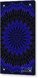 Kaleidoscope Feathers Two Acrylic Print