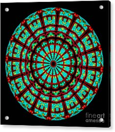 Kaleidoscope Of A Neon Sign Acrylic Print by Amy Cicconi