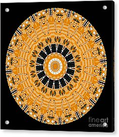 Kaleidoscope Of Computer Circuit Board Acrylic Print by Amy Cicconi