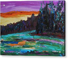 Kaleidoscope Sky Acrylic Print by Mary Carol Williams