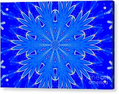Kaleidoscope Snowflake Acrylic Print