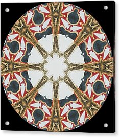 Kaleidoscope Wheel Acrylic Print by Cathy Lindsey