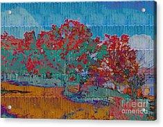 Kaleidoscopic Autumn Scene I Acrylic Print by Beverly Claire Kaiya