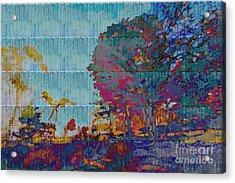 Kaleidoscopic Autumn Scene IIi Acrylic Print by Beverly Claire Kaiya