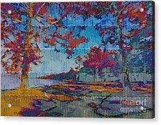 Kaleidoscopic Autumn Scene Iv Acrylic Print by Beverly Claire Kaiya