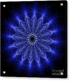 Kaleidoscopic Image Created From Real Electrical Arcs Acrylic Print