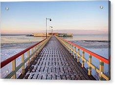Kallbadhuset Pier At Dusk Acrylic Print by Secablue