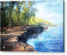 Kaloli Point Hawaii Acrylic Print by Ellen Cotton