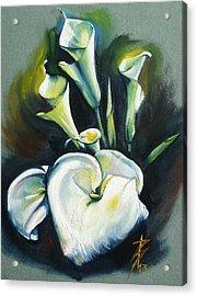 Kalos The Calla Lily Acrylic Print by Alessandra Andrisani