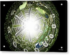 Acrylic Print featuring the digital art Kalpana One Space Station Section by Bryan Versteeg