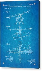 Kaman Rotor Control Patent Art 1954 Blueprint Acrylic Print by Ian Monk