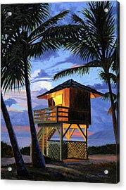 Kamaole Beach - Nocturne Acrylic Print by Steve Simon