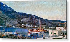 Kamares Port Acrylic Print by Laurence Canter