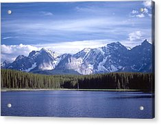 Kananaskis Mountains Lake Acrylic Print by Jim Sauchyn