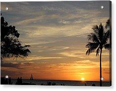 Kanapali Sunset Acrylic Print