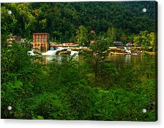 Acrylic Print featuring the photograph Kanawha Falls by Dave Files