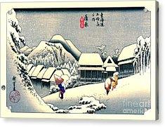 Kanbara Station Tokaido Road 1833 Acrylic Print by Padre Art
