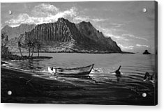 Kaneohe Bay Early Morn - Study Acrylic Print