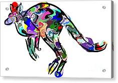 Kangaroo 2 Acrylic Print by Chris Butler