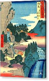 Kannon Temple Tajima Province 1854 Acrylic Print by Padre Art