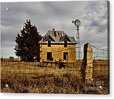 Acrylic Print featuring the photograph Kansas Castle 1 by Lynne Wright