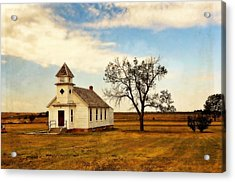 Kansas Church Acrylic Print by Marty Koch