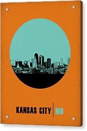 Kansas City Circle Poster 1 Acrylic Print by Naxart Studio