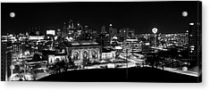 Kansas City In Black And White Acrylic Print