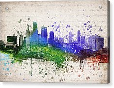 Kansas City In Color Acrylic Print by Aged Pixel