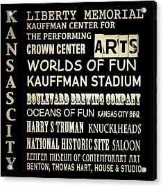 Kansas City Famous Landmarks Acrylic Print