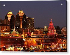 Kansas City Plaza Lights Acrylic Print