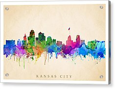 Kansas Cityscape Acrylic Print