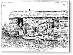 Kansas Early House, 1854 Acrylic Print by Granger