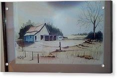 Acrylic Print featuring the painting Kansas Farm by Richard Benson