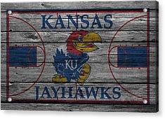 Kansas Jayhawks Acrylic Print by Joe Hamilton