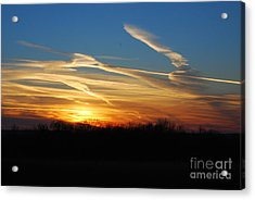 Kansas November Sunset Acrylic Print