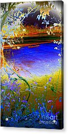 Kansas River 2 Acrylic Print by Karen Newell
