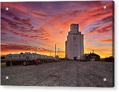 Kansas Skyfire Acrylic Print by Thomas Zimmerman