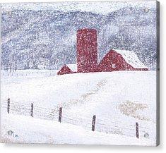 Kansas Snow Storm Acrylic Print by Garry McMichael