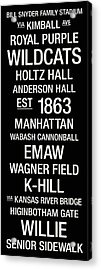 Kansas State College Town Wall Art Acrylic Print
