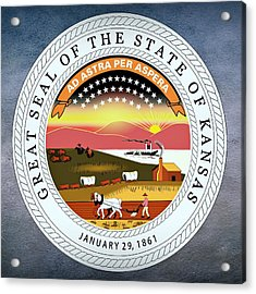 Kansas State Seal Acrylic Print by Movie Poster Prints