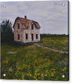 Kansas Stone House Acrylic Print