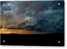 Acrylic Print featuring the photograph Kansas Tornado At Sunset by Ed Sweeney