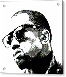 Kanye West Acrylic Print by  Fli Art