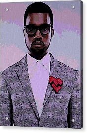 Kanye West Poster Acrylic Print by Dan Sproul