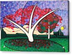 Kapok Tree In Bloom Acrylic Print by Jason Charles Allen