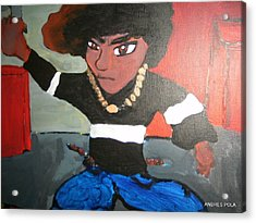 Acrylic Print featuring the painting Kapow by Artists With Autism Inc
