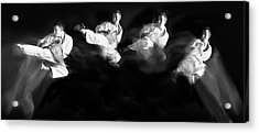 Karate #1 Acrylic Print by Hilde Ghesquiere