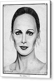 Karen Graham In 1978 Acrylic Print by J McCombie